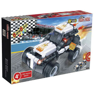Details about Banbao 8622 Turbo Power Dragster Racer Pull Back Action  Building Bricks 128 PCS