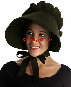80752759e2f Olive - Adult Baby cotton Bonnet Hat Cap Sissy Pioneer Maid ...