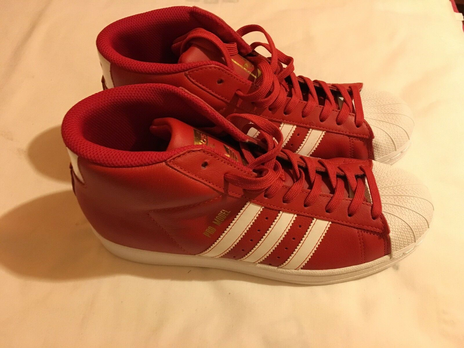 New Adidas Men's Autheletic Red White shoes Size-8 M