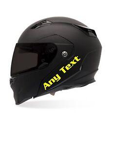 CUSTOM TEXT MOTORCYCLE HELMET STICKER DECAL EBay - Custom motorcycle helmet stickers custom