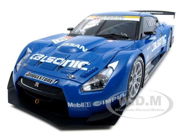 NISSAN GT-R SUPER GT 2008 CALSONIC IMPUL blueE 1 18  BY AUTOART 80877