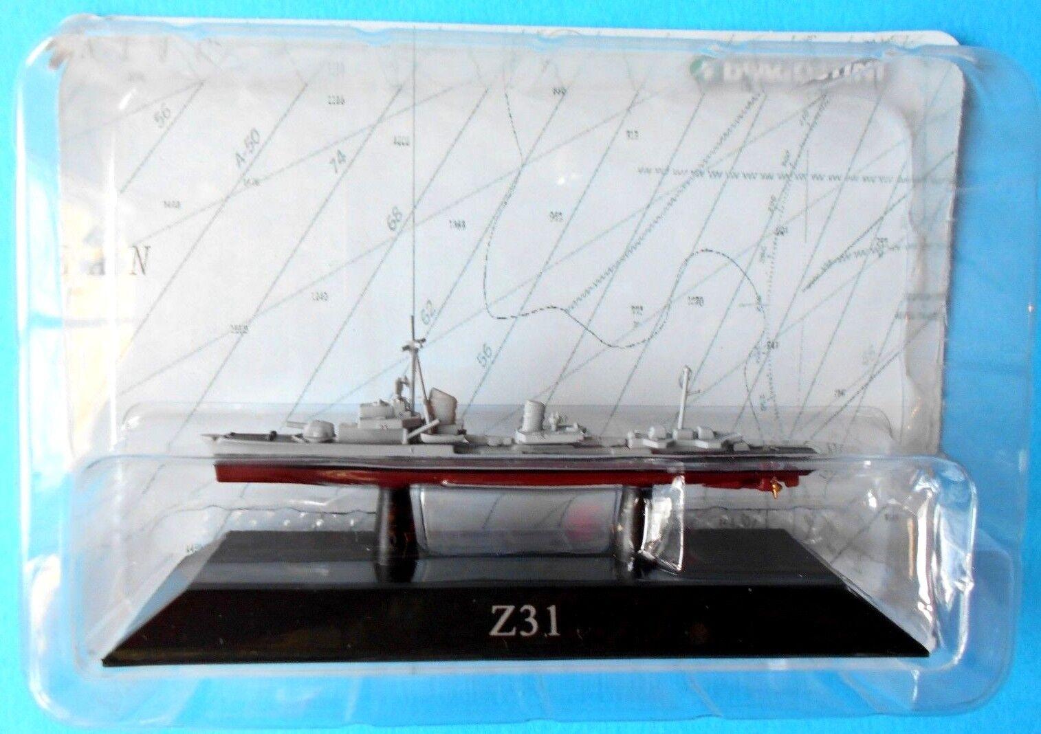 DIE CAST NAVI DA GUERRA     Z31 Zerstörer 1936 (MOB) - 1 1250 DEAGOSTINI [64]  echa un vistazo a los más baratos