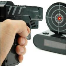 Cool Novelty Target Panel Shooting Game LCD Gun Alarm Clock Gadget Toy Gift US