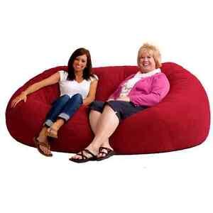 image is loading large bean bag sofa chair 7ft adult oversized  large bean bag sofa chair 7ft adult oversized futon giant cozy sac      rh   ebay