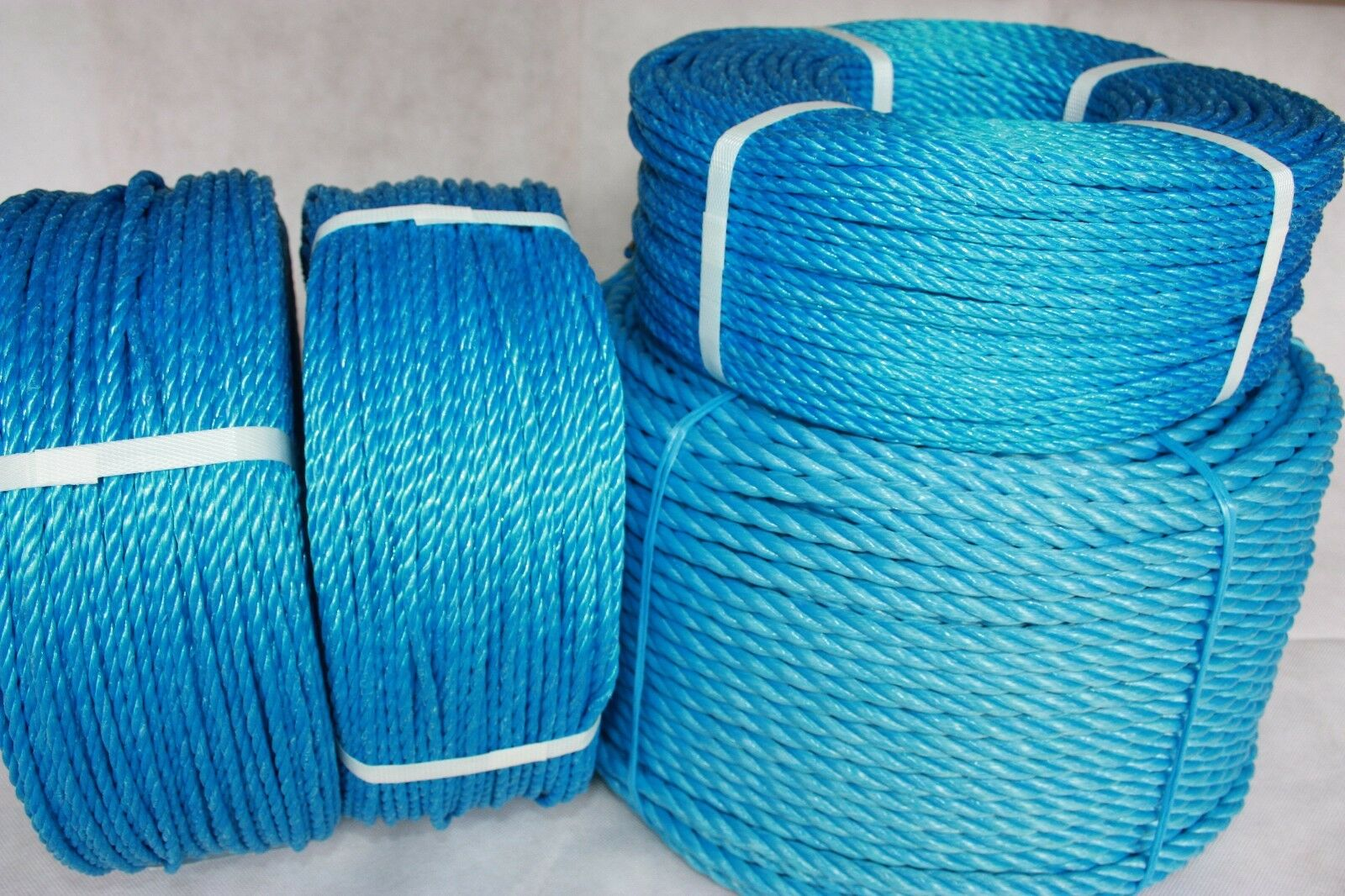 bluee polypropylene Nylon Rope 6-24mm for Camping, sailing, marine & general use.