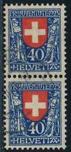 Schweiz Nr. 188 gestempelt, PAAR 40 C. Pro Juventute 1923 (35754) - Spahnharrenstätte, Deutschland - Schweiz Nr. 188 gestempelt, PAAR 40 C. Pro Juventute 1923 (35754) - Spahnharrenstätte, Deutschland