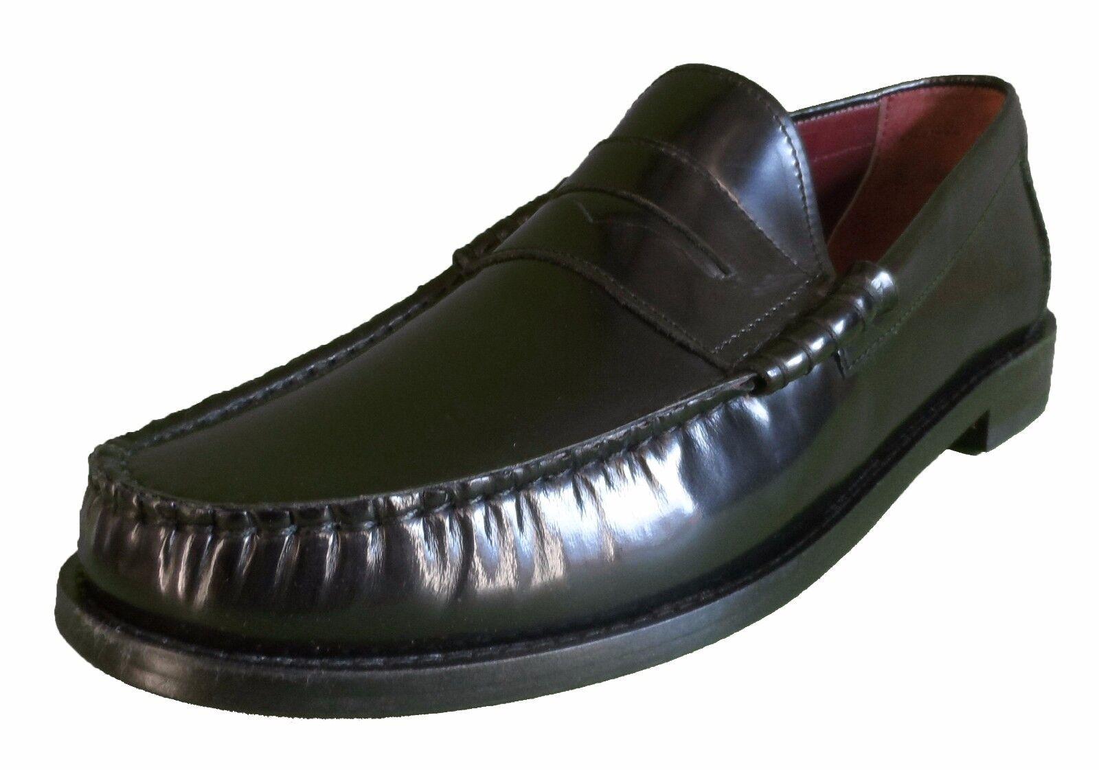 Ikon Original retro-modern schwarz Vollleder Pennyloafer