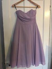 New Lilac TFNC @ Asos Dress Sz 12 Purple Lavender Bridesmaid Wedding Ball Midi