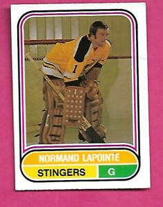 RARE-1975-76-OPC-WHA-85-STINGERS-NORM-LAPOINTE-ROOKIE-EX-MT-CARD-INV-D2974