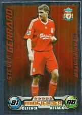 TOPPS MATCH ATTAX 2008-09-LIVERPOOL-STAR PLAYER-STEVEN GERRARD-SILVER FOIL
