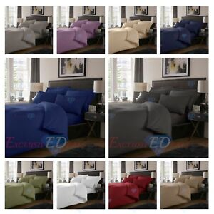 800-TC-Plain-Dyed-Cotton-Rich-Duvet-Cover-Extra-Deep-Fitted-Flat-Bed-Sheet