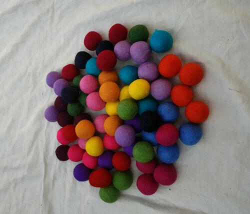 1cm Assorted Colors Hot!!! 100/% Wool Felt Balls 100 Count