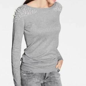 Rick Cardona Designer Pullover khaki Pulli Strick Gr 34 36 38