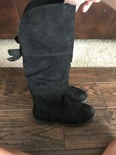 Black *Cat /& Jack Girls/' Aniya Buckle Strap Tall Zip Up Knee High Riding Boots