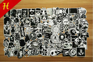 100x-Aufkleber-Stickerbomb-Tuning-Autoaufkleber-Style-decals-TPH-Schwarz-weiss