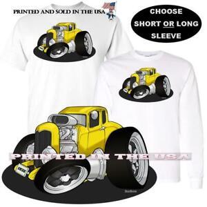 Digirods Bee Fast Yellow Camaro Hot Rod Car Cartoon Art T Shirt S-5X