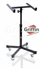 Mobile Studio Mixer Stand on Wheels - Pro Audio Cart Recording Mount Gear PA DJ