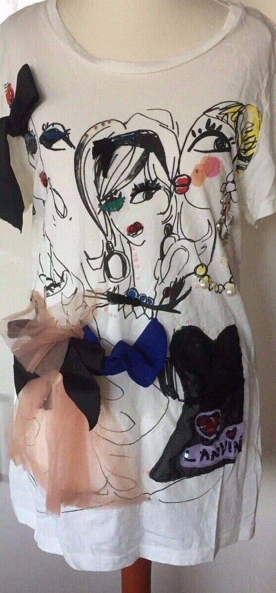 Lanvin shirt t-shirt lanvin for h&m Blause mit den drei Ladies Größe M Größe M