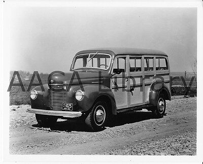 Ref. #48436 Wood Factory Photo 1941 International Harvester K2 Station Wagon