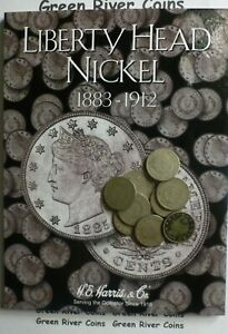 Liberty Head V Nickel Starter Collection#LN10 New Harris Coin Folder With Coins