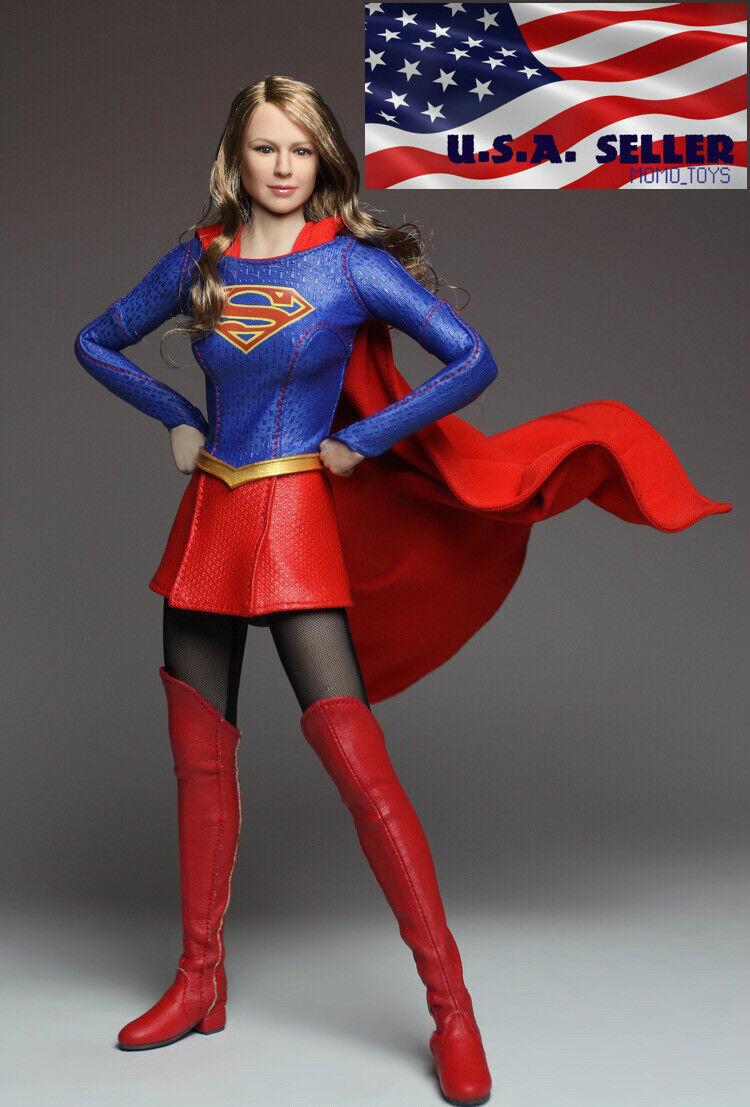 Muñeco figura Hembra 1 6 Supergirl sin costuras un conjunto completo con cuerpo Phicen ❶ USA ❶