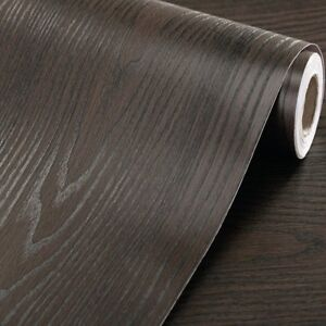 Image Is Loading Black Wood Contact Paper Self Adhesive Shelf Liner