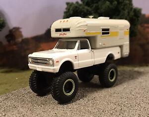 1968 chevy k10 4x4 levanto personalizado 1 64 diecast camion casa rodante off road mud 4wd ebay usd