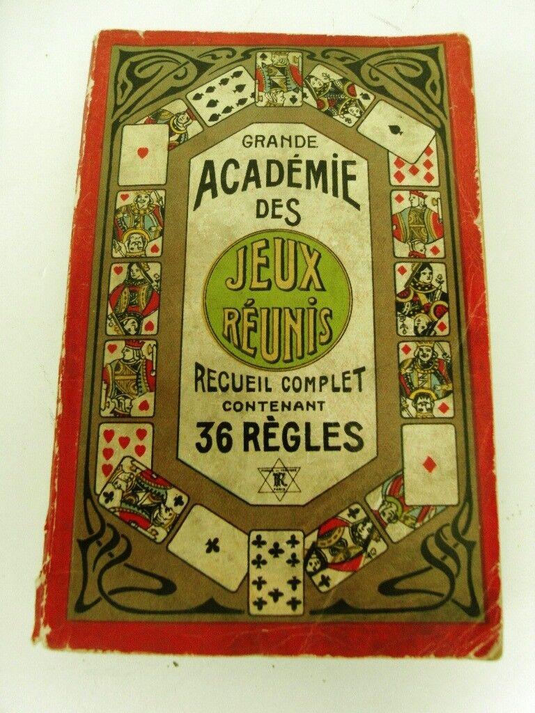 JEUX DE DE DE CARTES (TRAITE) AUTRES JEUX RÉUNIS EN 36 RÈGLES DE SOCIÉTÉ- LIVRE 1950 ad83ba