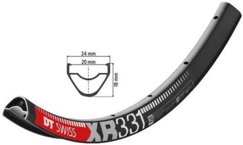 Dt Swiss XR 331 Bike Rim Black 622-20 29″ Disc