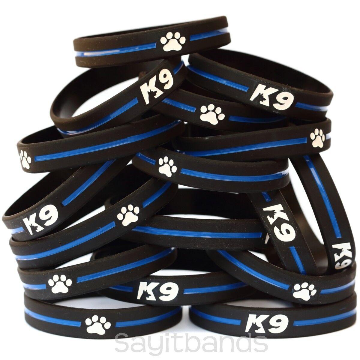 50 of K9 Wristbes - K-9 Bracelets - Thin blu Line Canine polizia Bracelet