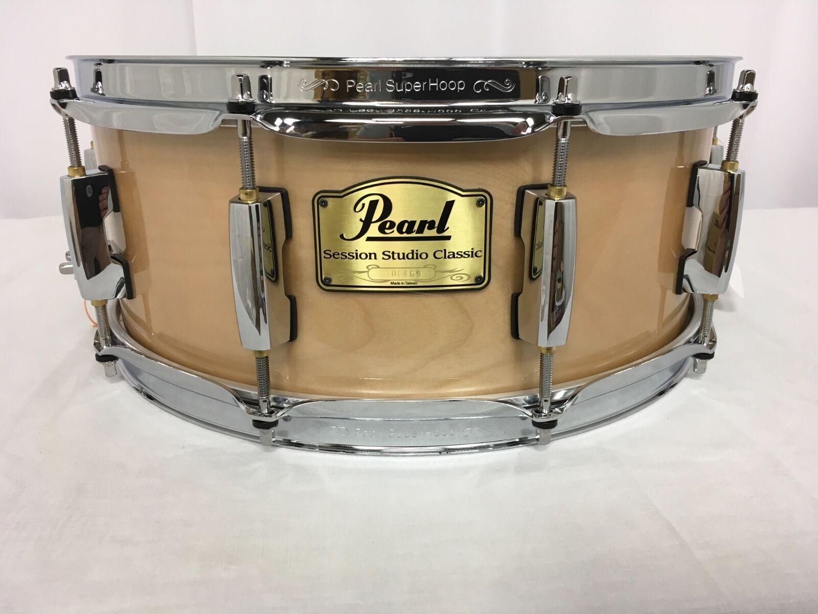 Pearl Session Studio Classic 14  X 6.5  Snare Drum Platinum Mist Finish  NEW
