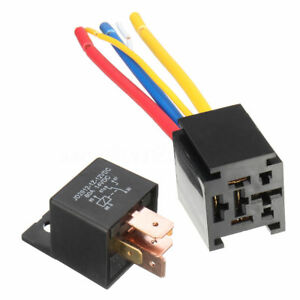 12V 80A 5Pin DC AMP SPDT Car Relays socket Car Starter Auto Relay