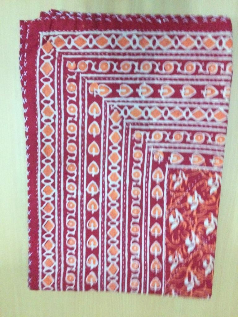 Indian Handmade Quilt Kantha Bedspread Throw Cotton Blanket Gudari Twin 28