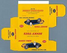 DINKY TOYS 234 : FERRARI RACING CAR box repro boite reprobox refabrication copie