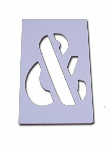 Reusable /& Flexible 4inch Numbers//Letters Individual Curb Painting Stencils