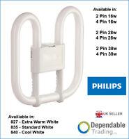 Philips 2d Pl-q Energy Saving Fluorescent Tube Lamp Bulb 16w 28w 38w - 2 / 4 Pin