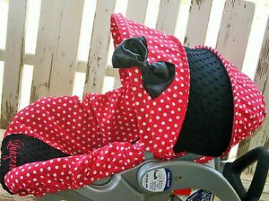 Admirable Details About Infant Car Seat Cover And Hood Cover Red Polka Dots With Black Minky Forskolin Free Trial Chair Design Images Forskolin Free Trialorg