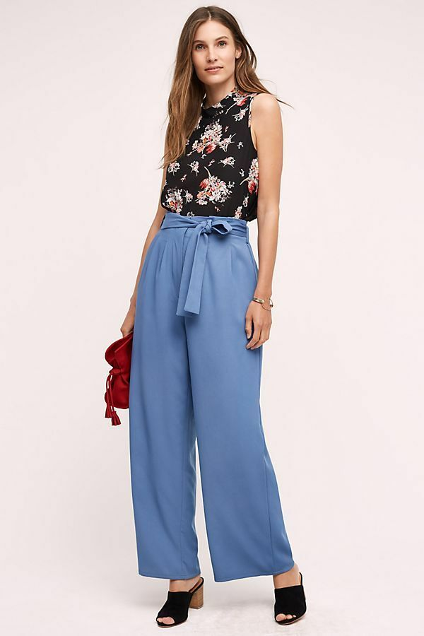 NEW ANTHROPOLOGIE SULIS WIDE LEG PANTS BY FIFTH LABEL SZ S SMALL