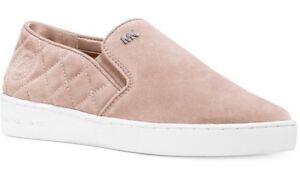 c0aecbcaf350 New Michael Kors keaton quilted slip on sneakers ballet flat suede ...