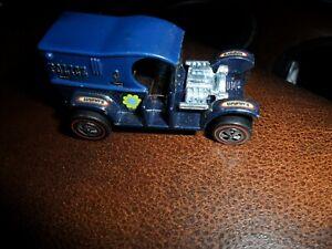 1969-POLICE-PADDY-WAGON-Original-Hot-Wheels-Redlines-Diecast-Toy-Car-BLUE-USA