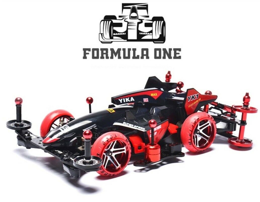 Mini4WD 4X4 Racing Car Assemble F1 MA Chassis Full Set Toy