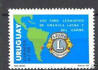 Lions Club 22nd Latin american forum map URUGUAY Sc#1433 MNH STAMP cv$3