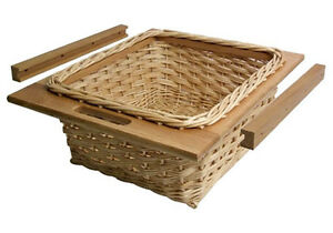 Image Is Loading Kitchen Wicker Baskets Amp Runners Set For 600mm