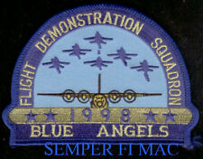 1998 US NAVY BLUE ANGELS PATCH 52ND ANNIVERSARY MARINES F-18 HORNET C-130 HERK