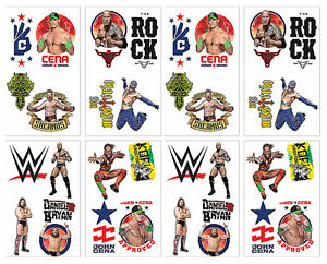 Image Is Loading WWE Party Temporary Tattoos Birthday Decorations Favors