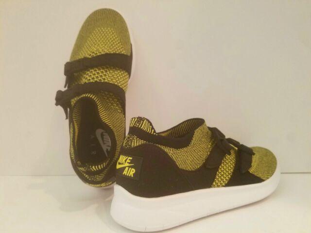 timeless design f05d7 df1be Nike Air Sockracer Flyknit Women s Yellow Black Strike 896447-003 Multi Size