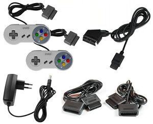 Super-Nintendo-Set-Scart-Kabel-Netzteil-2xController-2xVerlaengerungskabel