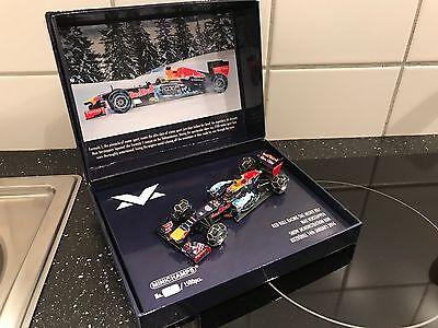 Max Verstappen Red Bull 1:43 Demo Snow Run 2016 LTD Edition Kitzbühel**NEU&OVP**