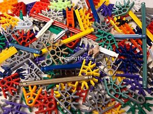 100-KNEX-RODS-amp-CONNECTORS-Random-Mixed-K-039-nex-Replacement-Parts-Pieces-Lot