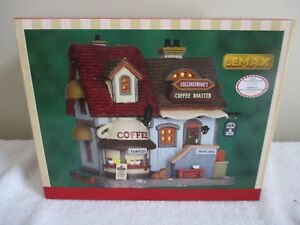 New Lemax Collingswood's Coffee Cafe Roaster Lighted Christmas Village House